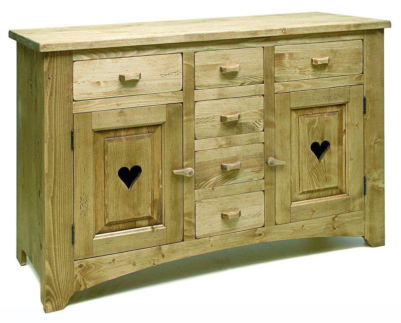 Collection Grand village meubles en pin massif finition huilé