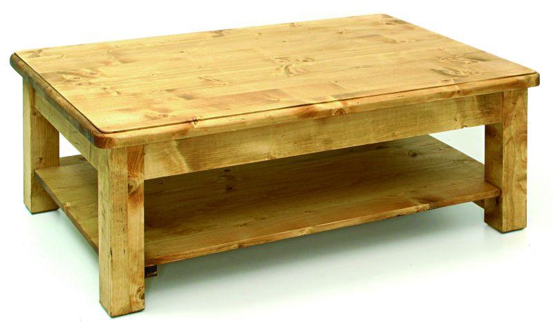 Collection grand village meubles en pin massif finition huil for Table de salon en pin massif