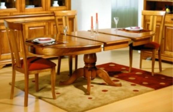 Salle manger meuble de sjour en merisier massif en for Meuble de salle de sejour