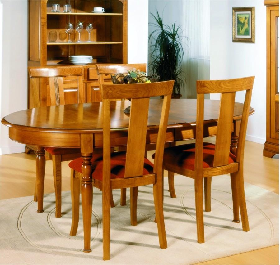 Salle manger meuble de sjour en merisier massif en for Chaise de salle a manger merisier