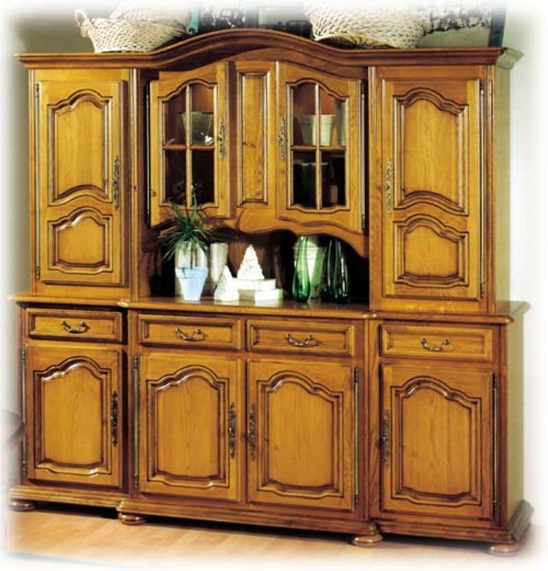 Collection la tremblade meuble chne massif style louis xiv for Meuble haut salle a manger