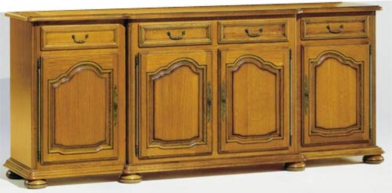 Collection la tremblade meuble chne massif style louis xiv - Buffet 2 portes 2 tiroirs ...