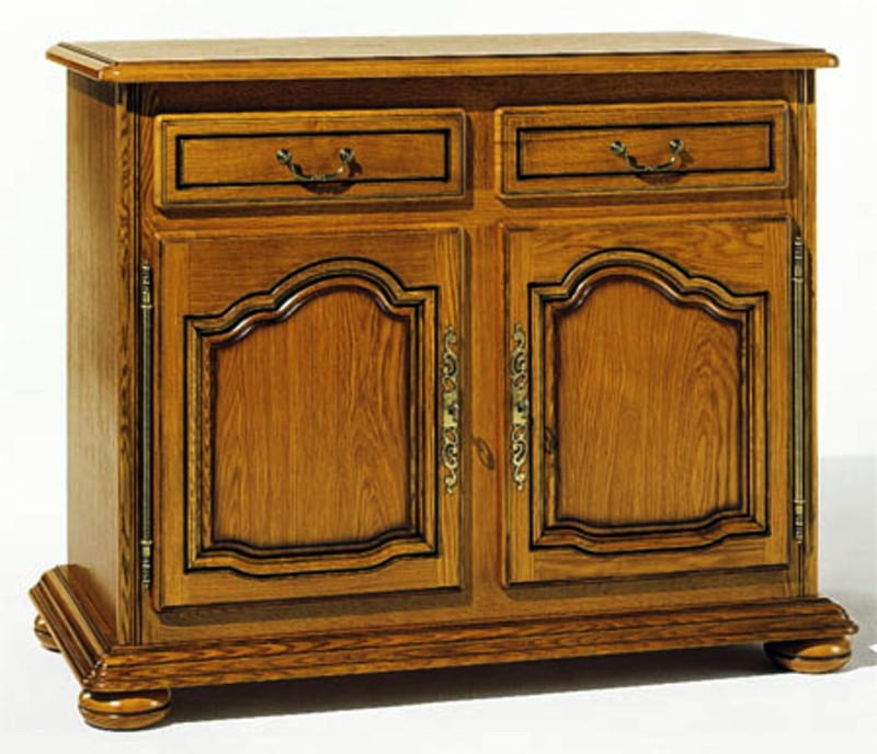 Collection la tremblade meuble ch ne massif style louis xiv for Meuble bas salle a manger