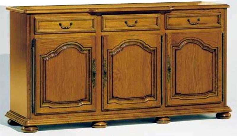 Collection la tremblade meuble chne massif style louis xiv for Meuble salle a manger 3 portes