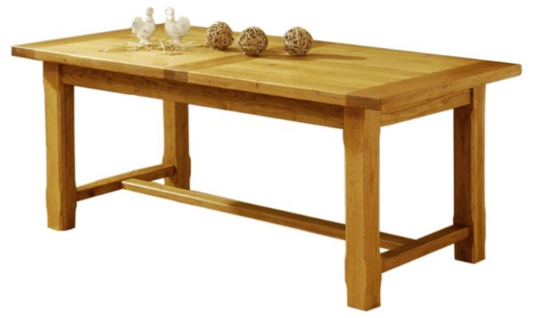 Tables de s jour en bois massif de meublaffairmeubles - Table bois rallonges integrees ...