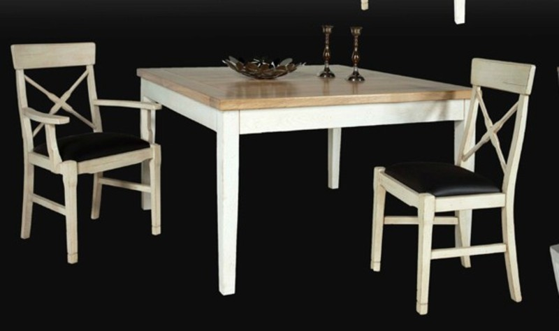 Tables de sjour en bois massif de meublaffairmeubles rochefort for Table carree 8 personnes extensible