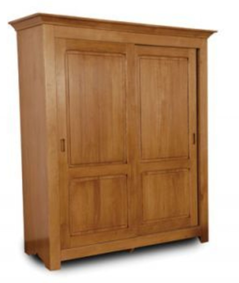 Armoires de style louis philippe style moderne rochefort - Armoire pin massif porte coulissante ...