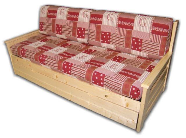 95d922160f5a0 Banquette-lit gigogne en sapin massif avec 2 couchages 80 190 cm